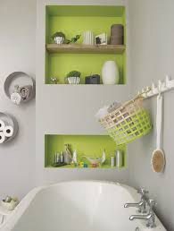 brighten up a grey colour scheme in the bathroom with a zesty