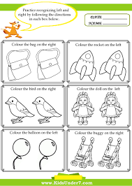 Worksheets For Kindergarten Printable Kids Under 7 Left And Right Worksheets