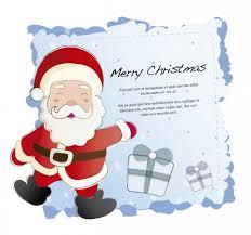 card with santa claus vector free