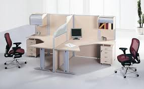 Home Office Desks For Two Soft Pink Maple Wood Mixed Silver Metal Office Desk With