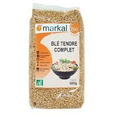 comment cuisiner le blé blé tendre complet céréales produit bio markal