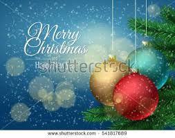 christmas ball christmas tree background template stock vector