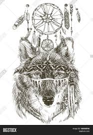wolf wolf indian warrior wolf sketch indian wolf hand drawn