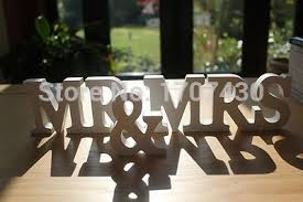 mr mrs sign for wedding table free shipping mr mrs antique white wooden letters wedding table