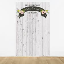 Personalized Photo Backdrop Rustic Country Personalized Photo Backdrop Vintage Wedding