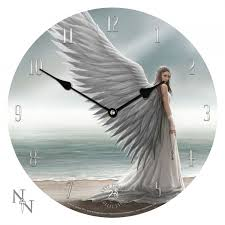 angel full color art clock by anne stokes