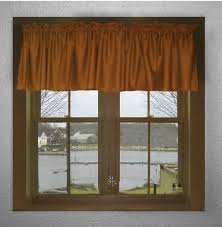 French Door Valances Solid Rust Colored French Door Curtain Available In Many Lengths