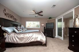 Master Bedroom Ceiling Fans by Contemporary Master Bedroom With French Doors U0026 Ceiling Fan In