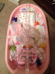 Baby Shower Gift Crafts Baby Bath Tub Gift Idea Made This For My Sister For Her Baby