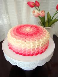 pink ombre vanilla cake recipe for the cake and icing as well