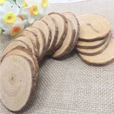 sale 20pcs vintage shabby chic wood decor diameter 5 6cm log sheet