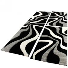 teppichl ufer flur läufer set modern schwarz weiss design teppiche