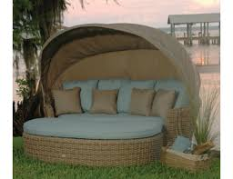 Patio Chairs With Ottoman Ebel Dreux Collection Resin Wicker Daybed With Ottoman