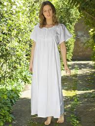 women u0027s nicole cotton nightdress by lunn antiques