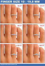 big fingers rings images How big will the diamond look on her finger jewelry secrets jpg