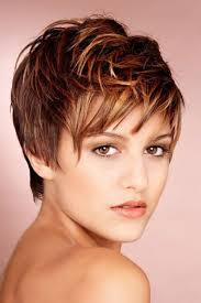 here u0027s a cute pixie cut hairstyle with auburn hair color with