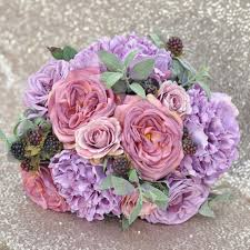 purple roses bridal bouquet with purple roses purple peonies berry and