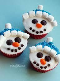 vanilla snowman cupcakes with vanilla icing skinnytaste