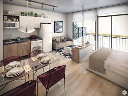 comely interior design for one room apartment in sofa apartement