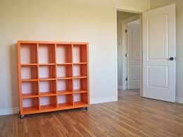 Small Red Bookcase Inspirations Interesting Interior Book Storage Design With Cube