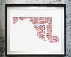 map of maryland to print maryland maryland map maryland print unframed print