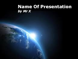 templates powerpoint earth earth in black space powerpoint template