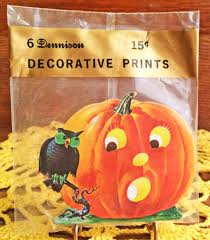 mint in package dennison small vintage halloween diecut