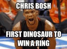 Chris Bosh Dinosaur Meme - chris bosh dinosaur meme kappit