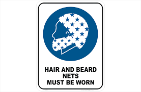 beard nets hair and beard nets sign snood sign national safety signs