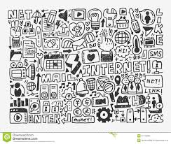 doodle vectors free doodle network element royalty free stock image image 31472006