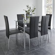 6 Seater Dining Table Design With Glass Top Wallace Sacks Florence Glass Table 6 Seater Dining Set