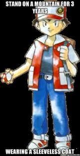 Pokemon Trainer Red Meme - pokemon trainer meme