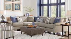 Sectional Living Room Sets Picture Of Brenton Court Platinum 5 Pc Sectional Living Room From