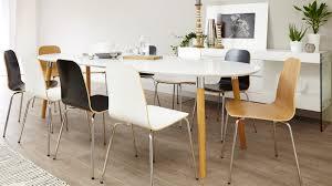 Dining Room Furniture Uk Matt White Extending Dining Table Oak Chrome Legs Uk