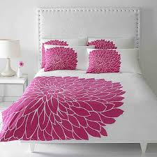 white theme color in bedroom for girls with beautiful red flower
