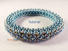 bead weave bracelet images Cubic right angle weave tutorial bracelet pattern beading jpg