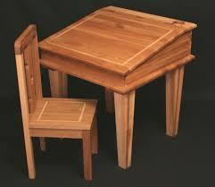 natural varnished walnut wood kids standing desk with tilt table