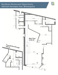 restuarant floor plan elementnortheast retail and restaurant space 308 314 e hennepin ave