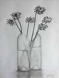 Pencil Sketch Of Flower Vase Drawn Vase Realistic Pencil And In Color Drawn Vase Realistic