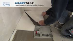 6 Floor Drain by Lux Elements Installation Flush With The Floor Shower Base Tub