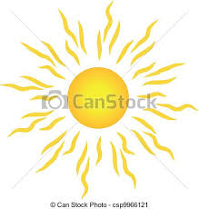 the sun with rays stylish sun with rays isolated on white vector