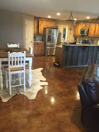 Laminate Flooring On Concrete Slab Another Beautiful Stained Concrete Floor Www Superiorstainstx Com