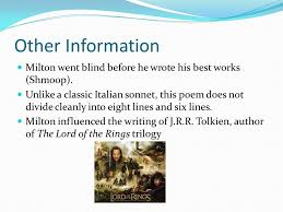 On His Blindness John Milton Meaning John Milton By Annie Jayla And Maria Ppt Download