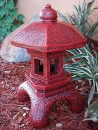 pagoda concrete lantern statue garden decor