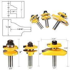 Router Bits For Cabinet Doors 3pcs 1 2 Shank Door Panel Cutter Tool Woodworking Cabinet Router