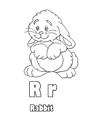 learn upper case and lower case letter r coloring page bulk color