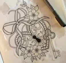 risultati immagini per 2 hearts like bow tattoo hand drawn