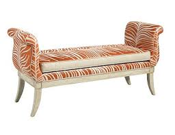 ottoman bench with arms pearson orange zebra bench style only not finish or fabric