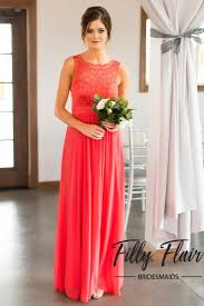 bridesmaid dresses coral bridesmaid dress in coral filly flair