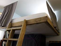 Free Loft Bed Plans For College by Partially Freestanding Loft Bed Under 50 7 Steps With Pictures